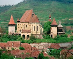 Biertan, Romania, Castle Church panorama