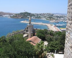 Bodrum, Turkey, Mosque view from the Castle