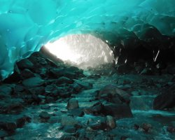 Breathtaking Landscapes, Mendenhall Ice Cave, Alaska, USA, Near entrance