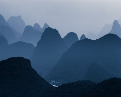 Breathtaking Landscapes, Guilin, China, Asia, Mountain overview