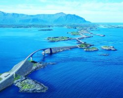 Breathtaking Landscapes, Norway, Atlantic Highway, Aerial view