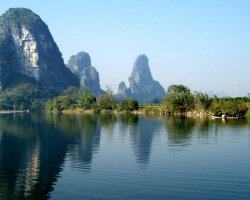 Breathtaking Landscapes, Guilin, China, Asia, Mountain near a lake