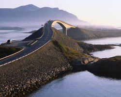Breathtaking Landscapes, Norway, Atlantic Highway, Pitstop