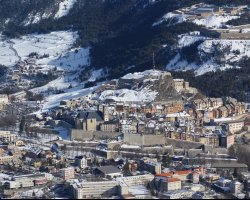 Briancon, France, Snow over the city