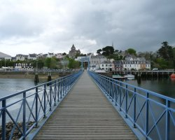 Brittany Holiday, France, Europe, Village Douarnenez Passerelle Jean Marin