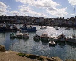 Brittany Holiday, France, Europe, Village Douarnenez marina view