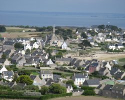 Brittany Holiday, France, Europe, Ile de Batz city view