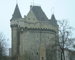 Brussels, Belgium, The remains of the Hallepoort - Porte de Hal