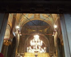 Bucharest, Romania, Patriarchal Cathedral Chandelier