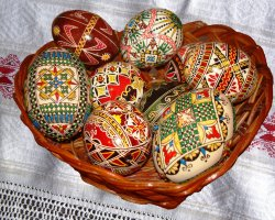 Culinary Traditions, Bucovina, Romania, Wax painted eggs 05