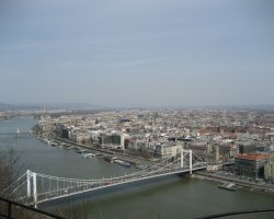 Budapest, Hungary, Libery bridge view from above