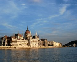 Parliament, Budapest, Hungary, Side panorama view