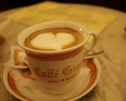Best Cafe Holiday, Rome, Italy, Caffe Grecco capucinno cup