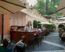 Best Cafe Holiday, Rome, Italy, Stravinskij bar terrace