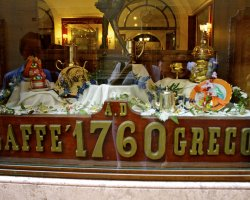 Best Cafe Holiday, Rome, Italy, Caffe Grecco outside view