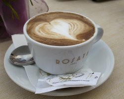 Best Cafe Holiday, Rome, Italy, Rosati cafe cup