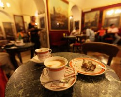 Best Cafe Holiday, Rome, Italy, Caffe Grecco coffee cups