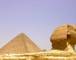 Cairo, Egypt, Pyramid and Sphinx