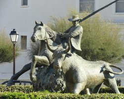 Camargue, France, Cowboy with his cattle