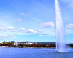 Canberra, Australia, Lake Burley Griffin spray