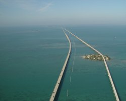 Car Holiday, USA, The Overseas Highway aerial view