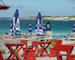 Most Visited Islands, Saint Martin, Caribbean, Beach with leisures