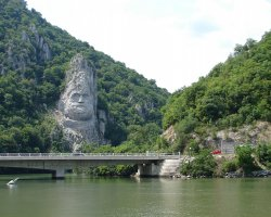 Unique Romanian Destination, Cauldrons of Danube, King Decebal stone carved face