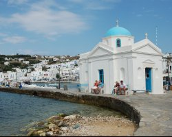 Celebrities Holiday, Mykonos, Greece, Town view