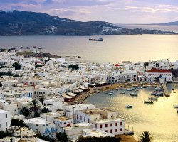 Celebrities Holiday, Mykonos, Greece, Town viewfrom above
