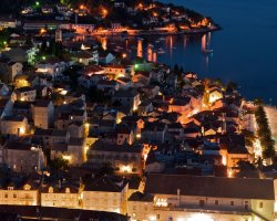 Celebrities Holiday, Hvar, Croatia, City view by night
