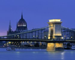 Charming Holiday, Budapest, hungary, Chain Bridge by night