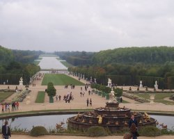 Chateau de Versailles, France, View from rear side of the castle