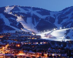 Park City, Utah, USA, City view at night