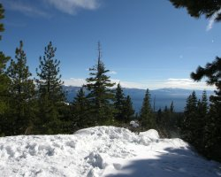 Lake Tahoe, Sierra Nevada, USA, Winter time