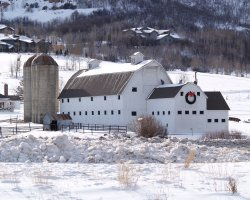 Park City, Utah, USA, Barn near Salt Lake City
