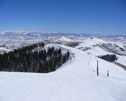 Park City, Utah, USA, Slope panorama