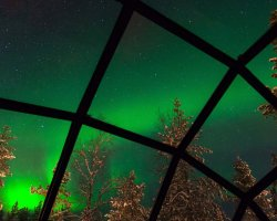 Chic small hotels, Hotel Kakslauttanen, Saariselka, Finland, Northen lights Aurora