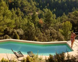 Chic small hotels, Hotel Consolacion, Teruel, Spain, Pool view
