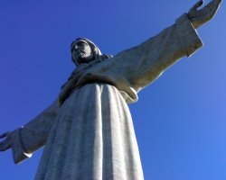 Christ the King Statue, Lisbon, Portugal, Closeup