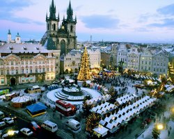 Christmas Holiday, Prague, Czech republic, Old town square