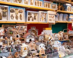 Christmas market, Barcelona, Spain, figurines