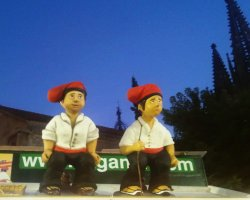 Christmas market, Barcelona, Spain, Caganer stall