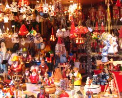 Christmas market, Bruxelles, Belgium, toy stand