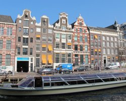 City Break Holiday, Amsterdam, The Netherlands, Canal Cruise boat