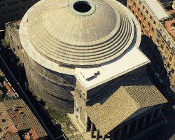 City Break Holiday, Rome, Italy, Pantheon aerial view