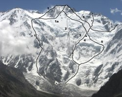 Climbing Holiday, Nanga Parbat, Pakistan, Climbing map