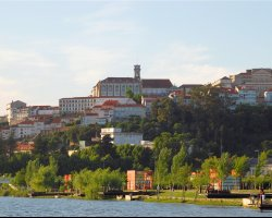 Coimbra, Portugal, University hill looking over the river Mondego