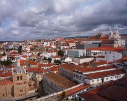 Coimbra, Portugal, Clouds over the City