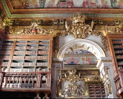 Coimbra, Portugal, The Joanina Library in the University of Coimbra