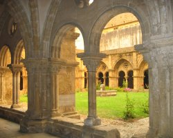 Coimbra, Portugal, The Old Cathedral interior courtyard